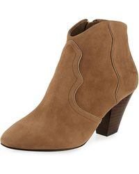 Ash - Gang Suede Pointed-toe Bootie - Lyst