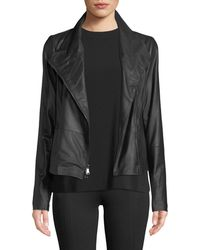 Vince - Leather Scuba Jacket - Lyst