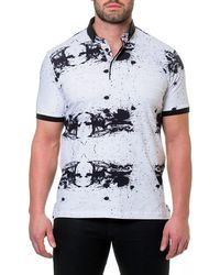 Maceoo - Shaped Fit Splatter-paint Polo Shirt - Lyst