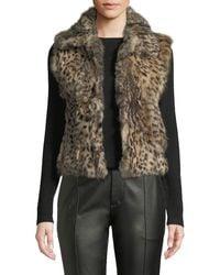 Adrienne Landau - Animal-print Dyed Rabbit Fur Vest - Lyst