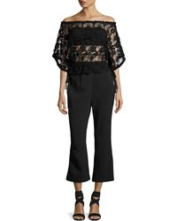 Foxiedox - Daisy Lace-overlay Jumpsuit - Lyst