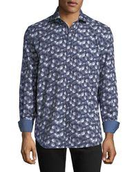 Bugatchi - Men's Classic-fit Circle-print Sport Shirt - Lyst