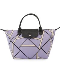 Longchamp - Le Pliage Medium Geometric-print Shoulder Tote Bag - Lyst