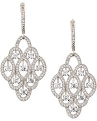 Fantasia by Deserio - Pave Cz Crystal Chandelier Drop Earrings - Lyst