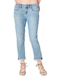 Nicole Miller - Mid-rise Pearly-side Boyfriend Jeans - Lyst
