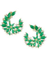 Serefina - Dewy Vine Post Earrings Green - Lyst