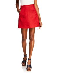 C/meo Collective - Confessions Patch Pocket Linen Skirt - Lyst