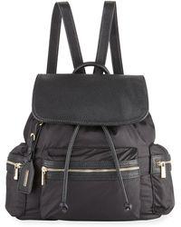 Neiman Marcus - Elizabeth Contrast-trim Nylon Backpack - Lyst