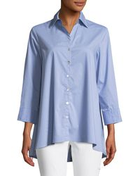 Finley - Trapeze 3/4-sleeve Swing Shirt - Lyst