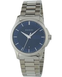Gucci - 38mm G-timeless Round Stainless Steel Bracelet Watch - Lyst