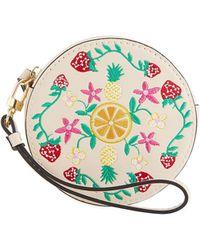 Neiman Marcus - Fruitful Floral Round Coin Purse Wristlet - Lyst