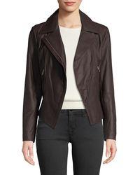 Marc New York - Bayside Lightweight Leather Moto Jacket - Lyst