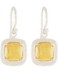 Gurhan - Malibu Cushion Drop Earrings - Lyst