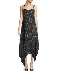 Haute Rogue - Star-print Tie-shoulder Maxi Dress - Lyst