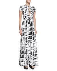 Derek Lam | Short-sleeve Crescent-print Gown | Lyst
