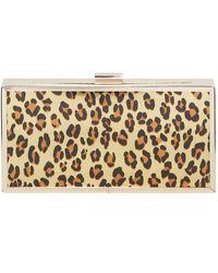 Christian Siriano Leopard-print Minaudiere Clutch Bag - Multicolour