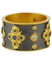 Freida Rothman - Cubic Zirconia Clover Cigar Band Ring - Lyst