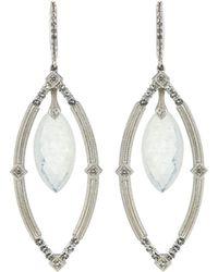 Jude Frances - Encore Sterling Silver Moonstone Dangle/drop Earrings - Lyst