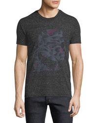 Karl Lagerfeld - Men's Abstract-print Heathered Crewneck Short-sleeve T-shirt - Lyst