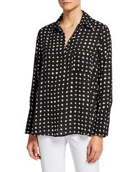 Pleione Dotted Pocket Shirt - Black