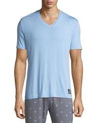 Psycho Bunny - V-neck Short-sleeve Lounge T-shirt - Lyst
