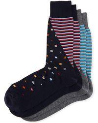 Punto - Two-pair Graphic-print Socks - Lyst