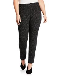 Neiman Marcus - Twiggy Mid-rise Printed Slim Jeans Plus Size - Lyst