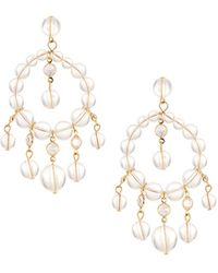 Fragments - Lucite® & Crystal Chandelier Earrings - Lyst