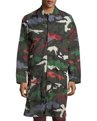 Valentino - Camouflage Duster-rain Jacket - Lyst
