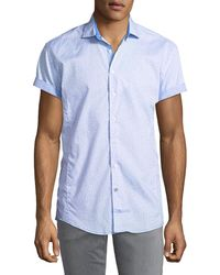 English Laundry - Classic-fit Seashelll Short-sleeve Sport Shirt - Lyst