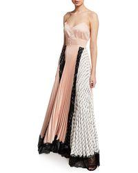 Yigal Azrouël - Spiral-print Sunburst Pleated Dress - Lyst