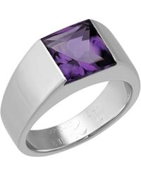 Cartier - Estate Tank De 18k Amethyst Ring Size 5.75 - Lyst