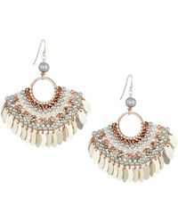 Nakamol - Bead Layered Half-circle Earrings - Lyst