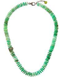 Bavna - Chrysoprase Rondelle Necklace - Lyst