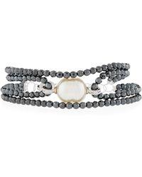 Majorica - Four-row Beaded Baroque Bracelet - Lyst