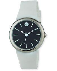 Philip Stein - 36mm Round Classic-dial Watch W/ Silicone Strap White/black - Lyst