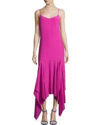 Solace London - Wyatt Handkerchief Hem Slip Dress - Lyst
