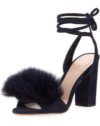 Loeffler Randall | Nicolette Faux-fur Ankle-wrap Sandal | Lyst
