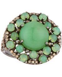 Bavna - Chrysoprase & Diamond Ring - Lyst