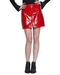 fefc522710 Walter Baker - Haley Patent Leather Mini Skirt - Lyst