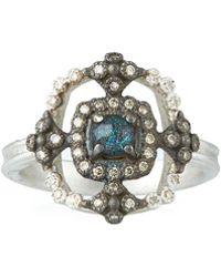 Armenta - New World Crivelli Square Ring W/ Opal/quartz - Lyst