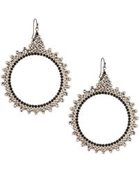 Nakamol - Czech Crystal Circle Drop Earrings - Lyst