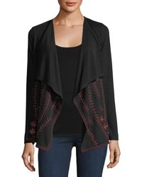 Neiman Marcus - Embroidered Open-front Cardigan - Lyst