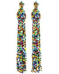 Kenneth Jay Lane - Rainbow Seed Bead Tassel Earrings - Lyst