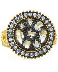 Freida Rothman - Rose D'or Round Pebble Ring - Lyst