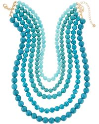 Lydell NYC - Multi-row Necklace - Lyst