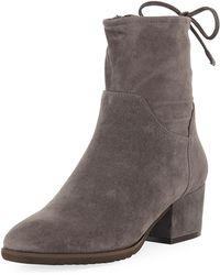 Neiman Marcus - Fanny Suede Mid-heel Sock Booties - Lyst