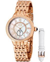 Gv2 - 40mm Astor Bracelet Watch W/ Diamond Bezel & Interchangeable Strap Rose Golden - Lyst