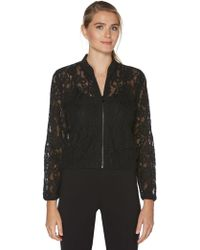 Laundry by Shelli Segal - Lace Bomber Jacket - Lyst
