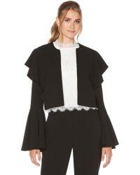 Laundry by Shelli Segal - Ruffle Sleeve Crop Jacket - Lyst